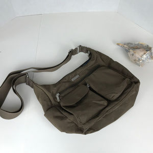 Baggallini tan nylon travel bag
